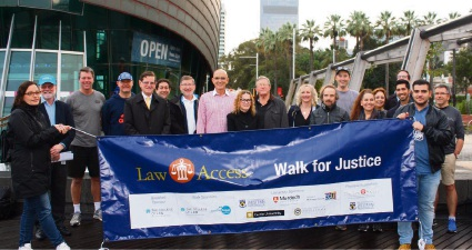 The Walk for Justice ambassadors.