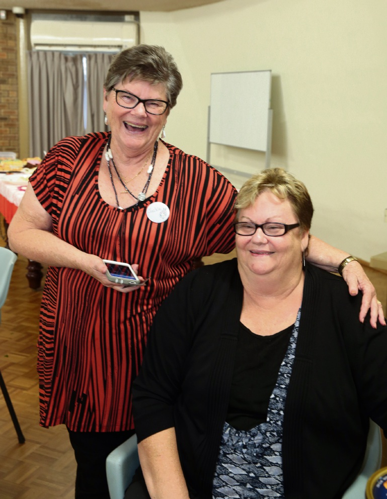 Jackie Giltrap (president Two Rocks Yanchep Arts and Crafts Group) and Kerry Smithers. Picture: Martin Kennealey