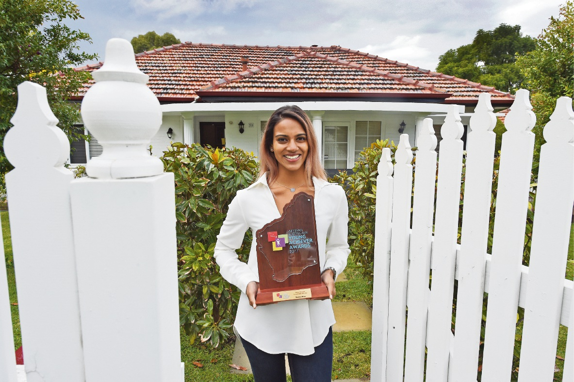 Pavitra Aran has been recognised as one of WA's young achievers. Picture: Jon Hewson        www.communitypix.com.au   d469278