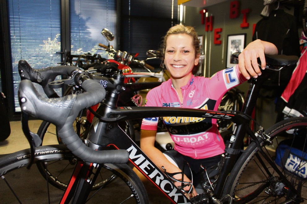 Santa Maria College student Emily Mascaro will cycle for Australia at the Youth Commonwealth Games.