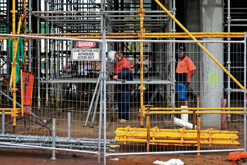 Workers at the Quest Midland construction site. Picture: David Baylis d469544