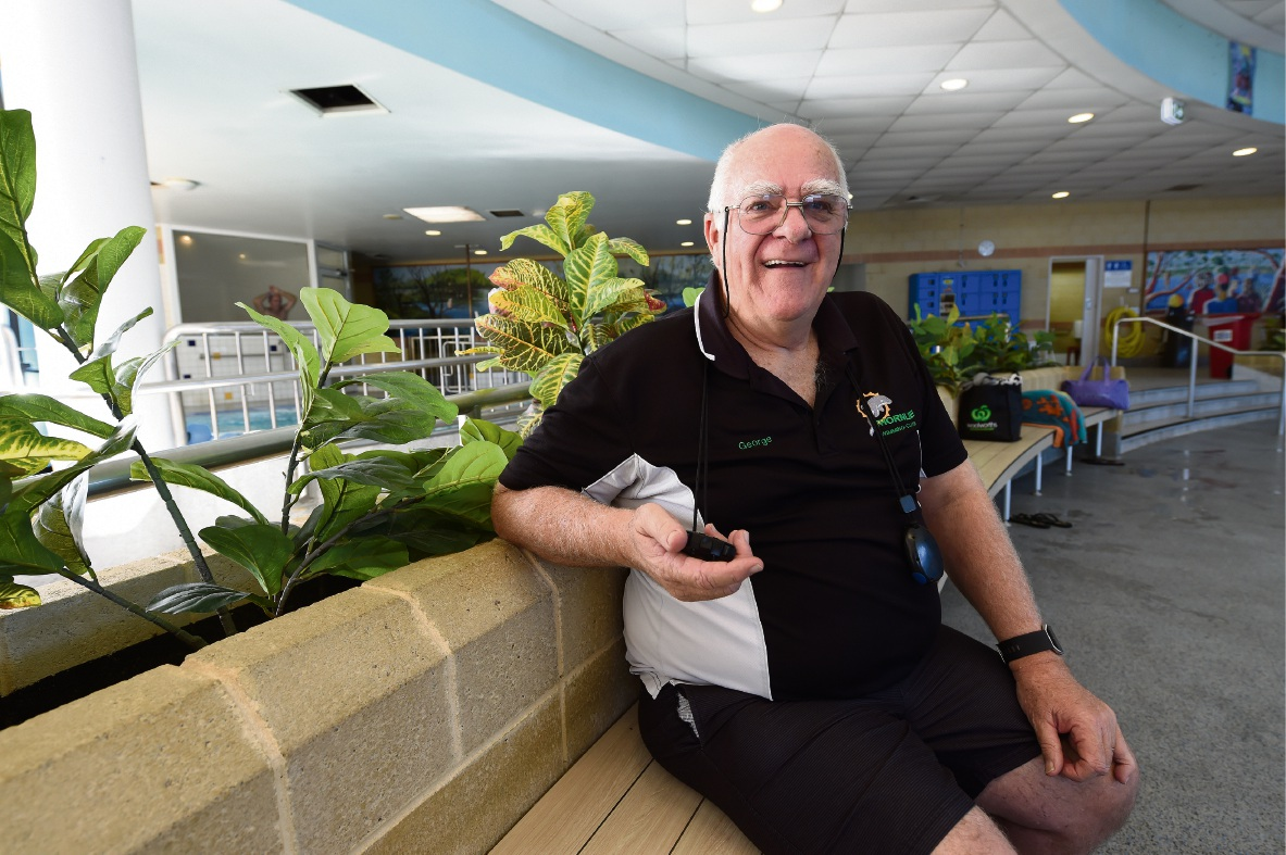 Thornlie Swimming Club coach and Hall of Fame inductee George Brown. Picture: Jon Hewson