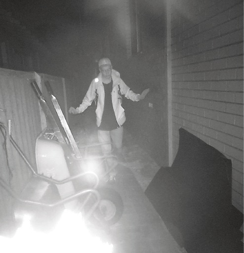 Joshua Briggs caught a trespasser in his CCTV in Nedlands.