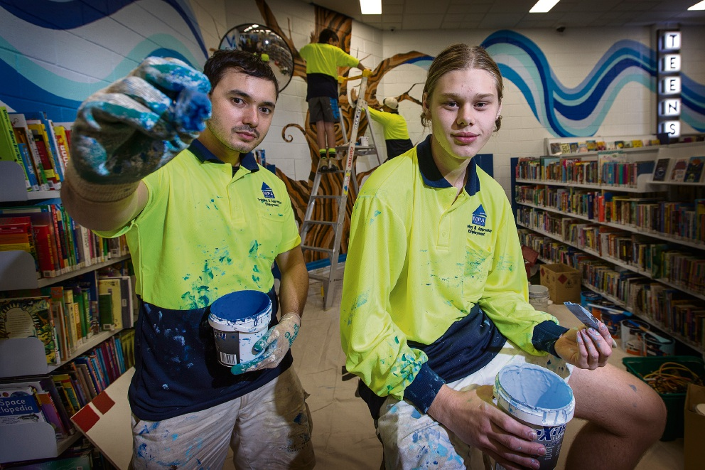 Morley Library redecoration one for the books