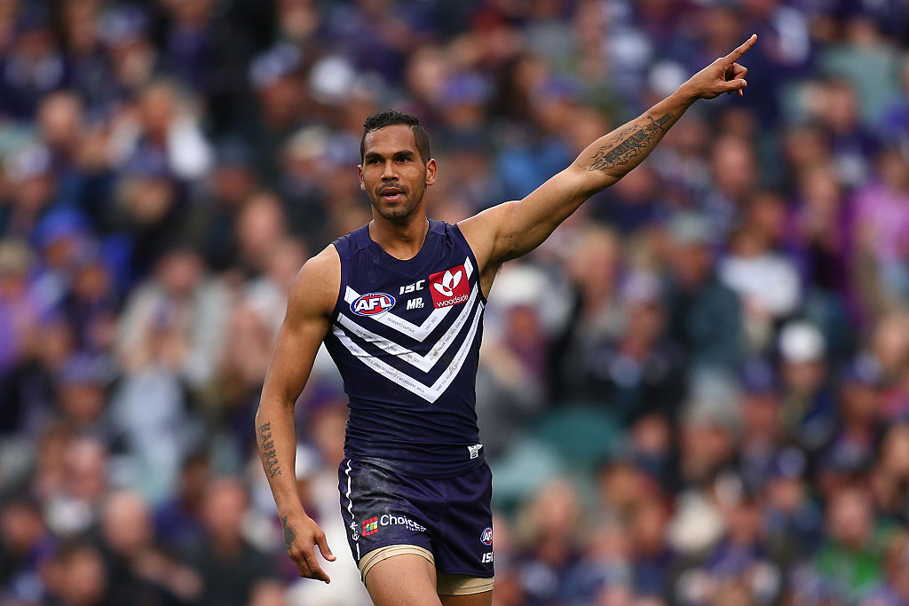 Shane Yarran while playing for the Dockers in 2016.  Picture: Paul Kane/Getty Images