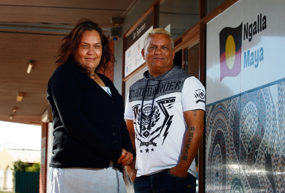 Founding CEO of Ngalla Maya Mervyn Eades (right) with office manager Beverley Eades. Picture: Marie Nirme        www.communitypix.com.au   d469350
