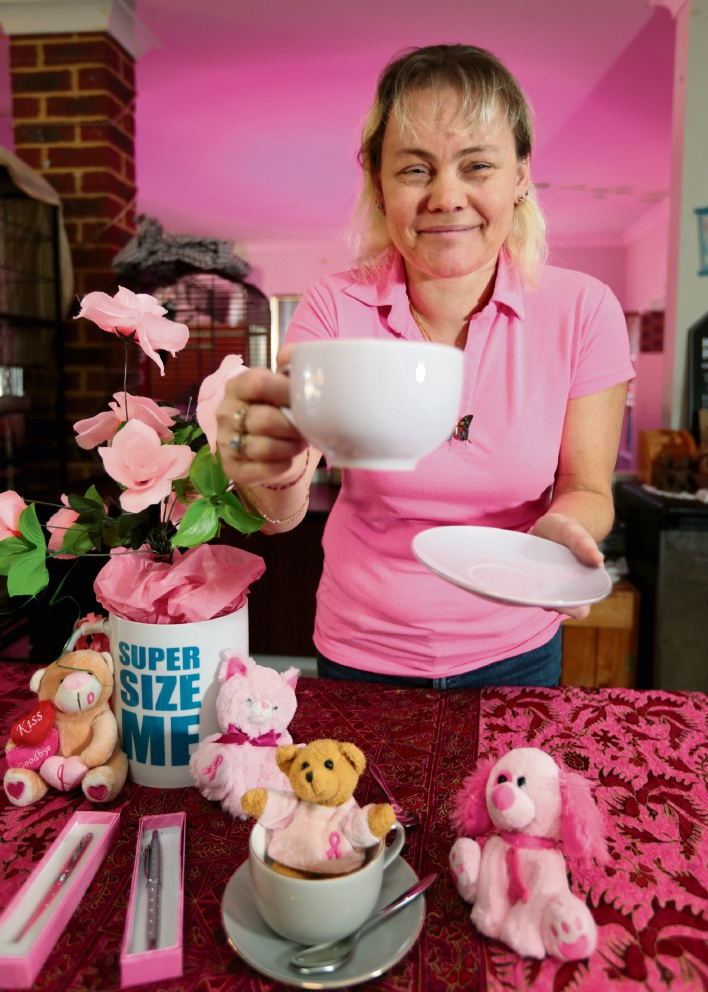 Julie Osgood of Forrestfield getting ready for Australia's Biggest Morning Tea. Picture: David Baylis www.communitypix.com.au  d469377