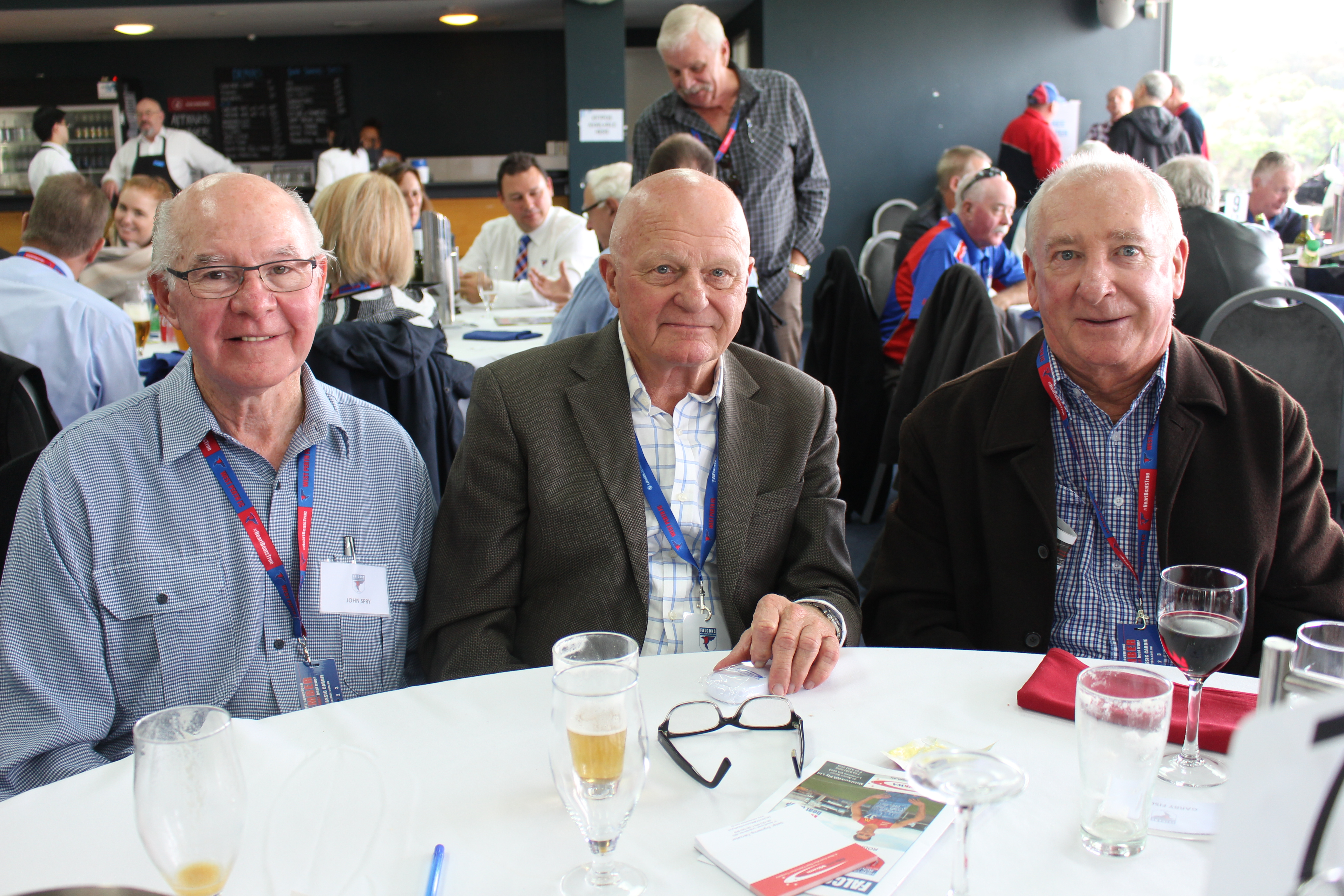John Spry, Richie Haddow and Garry Fischer.