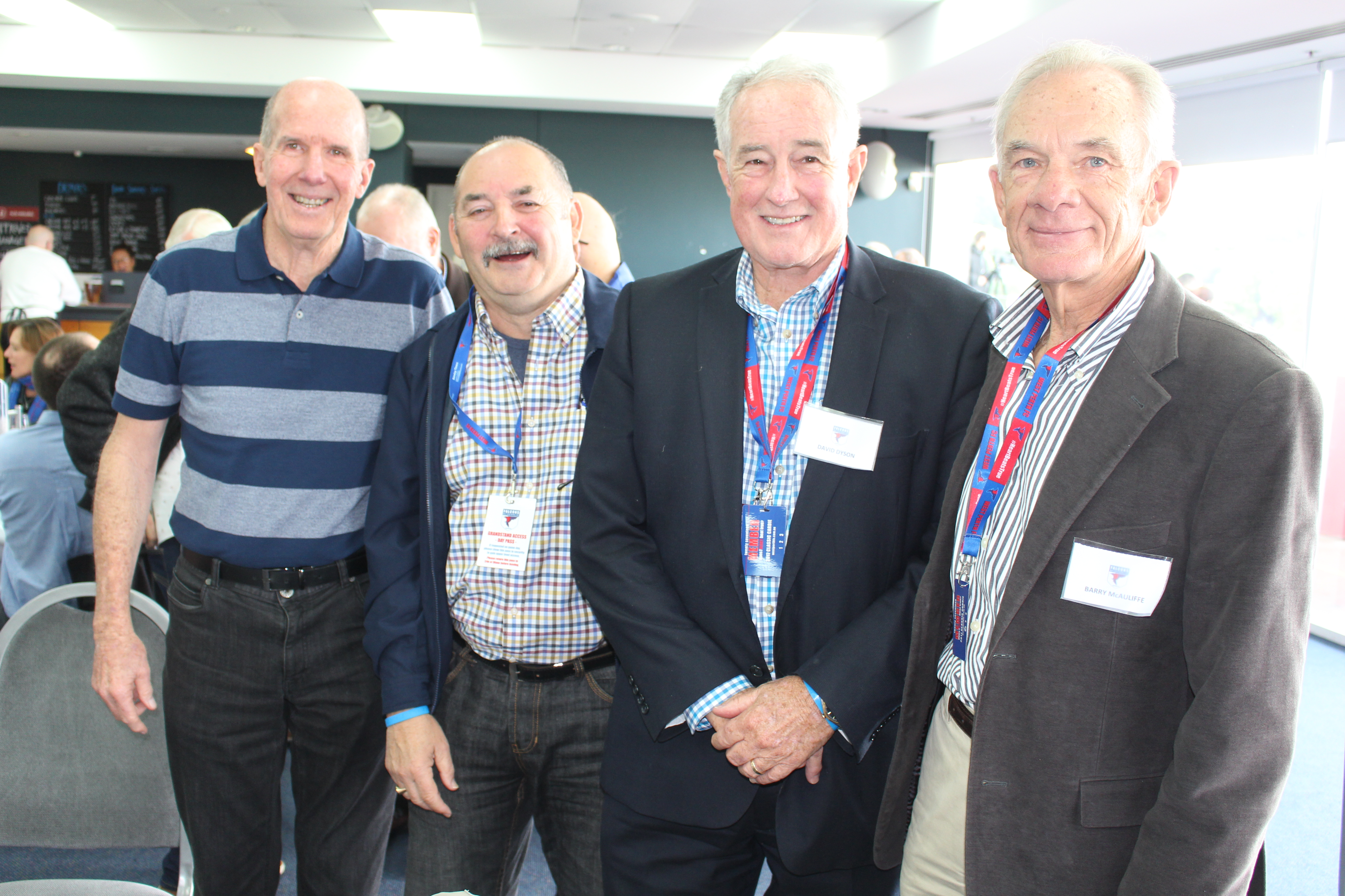 Bill Spittles, Terry Stokesbury, David Dyson and Barry McAuliffe.