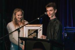 WAM winners Farraday Tween and Calvin Bennett accepting the award.