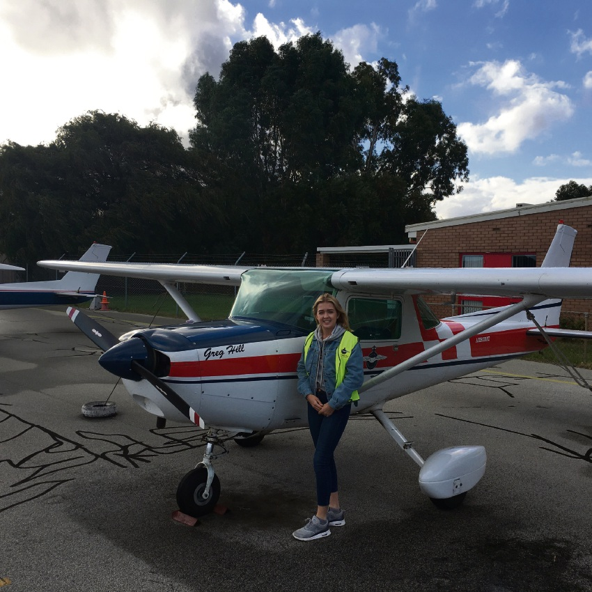 Young Leeming pilot in training Harriet Holbrook has scooped a prestigious aviation award.