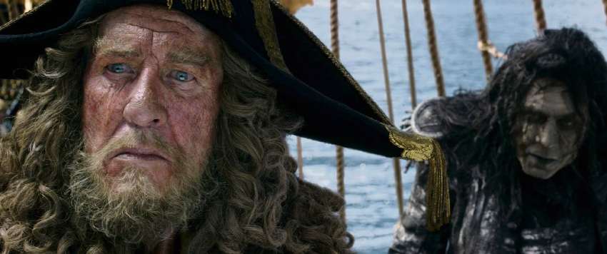 Geoffrey Rush stars as Captain Hector Barbossa in Pirates of the Caribbean: Dead Men Tell No Tales.