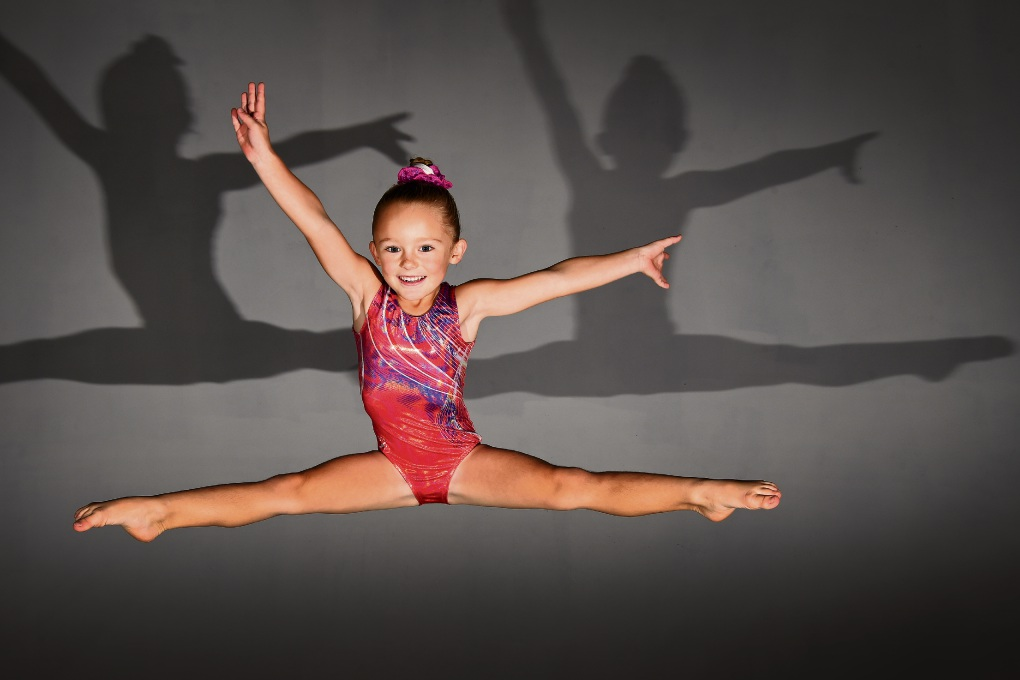 Talented young gymnast Lilly Burgess-Hewins. Picture: Jon Hewson           d469531