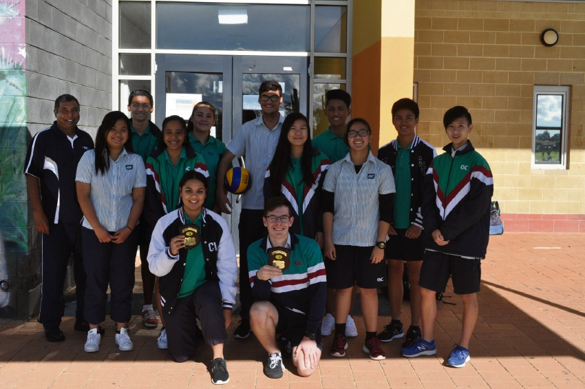 Canning Vale College's title-winning volleyball teams.
