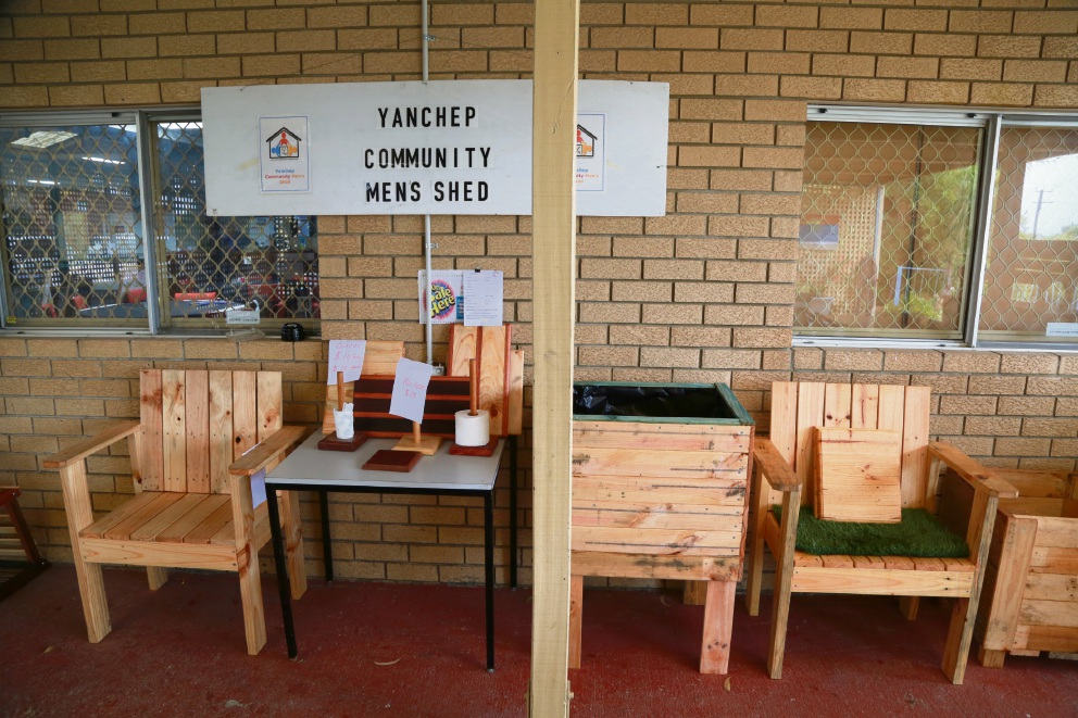 Yanchep Committee Men's Shed welcomes first committee and first Federal grant