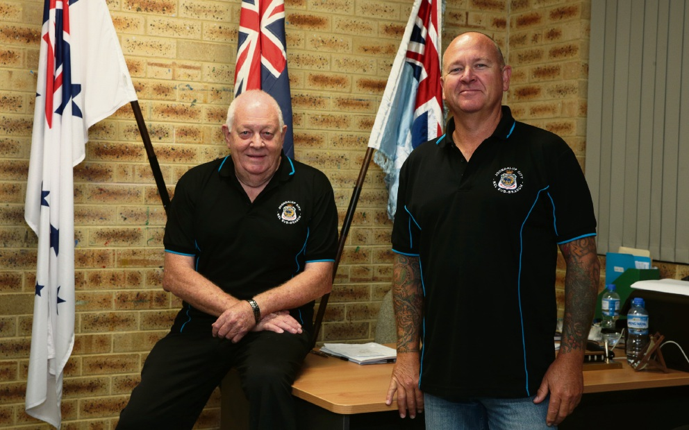 Ken Beven and Rick Green from the veterans advocacy service. Picture: Martin Kennealey        www.communitypix.com.au   d469197