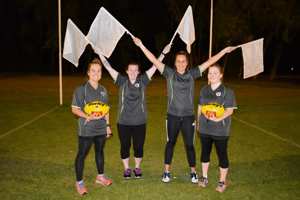 Female footy umpires in WA have their hearts set on AFL