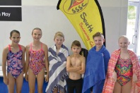 South Shore Swimming Club juniors Jasmine Ellery, Lily Eddison, Joel Ellery, Alex Eddison, Matthew Gardner and Emma Gardner.