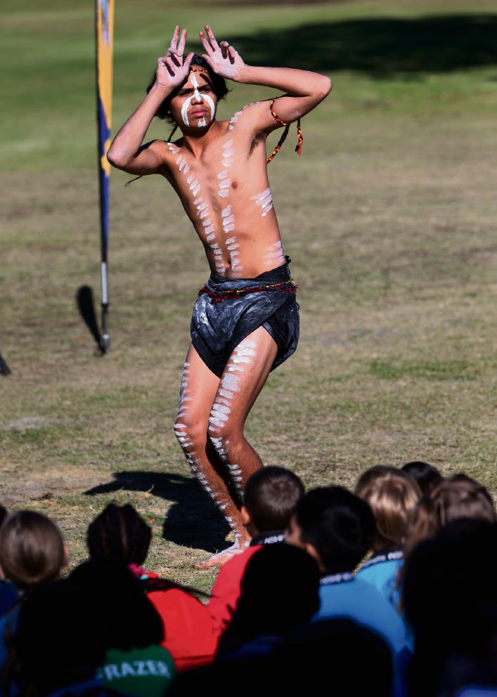 One of the performers in the Danjoo Koorliny Reconciliation Gathering. Picture: Matt Jelonek    d469277