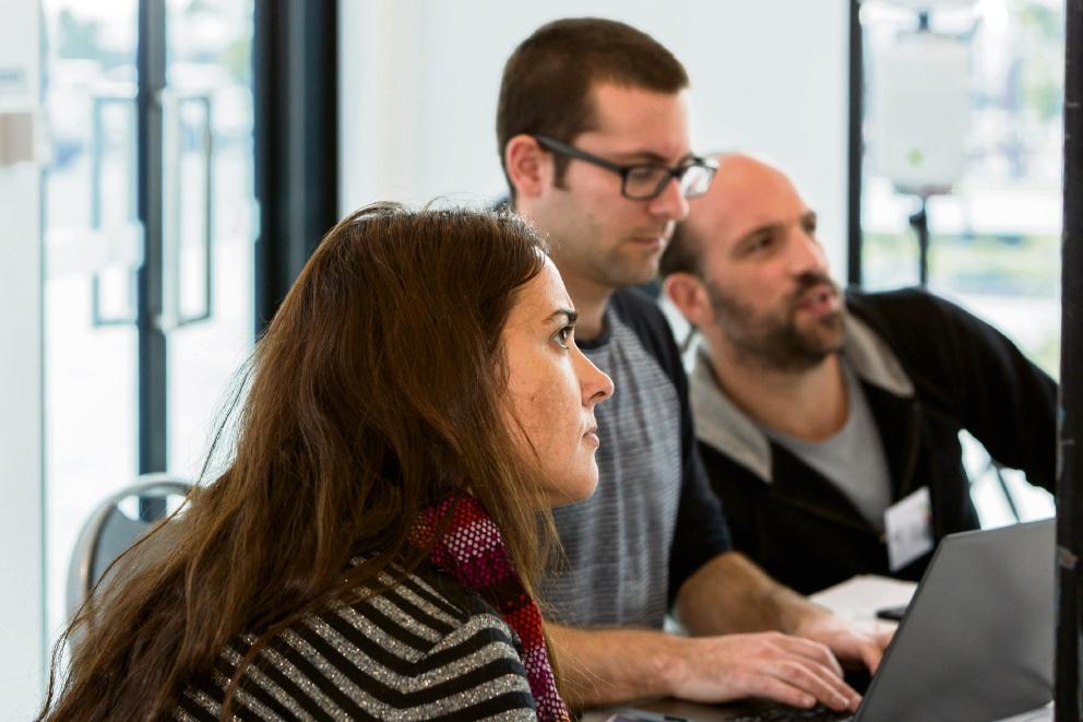 Sarah Davies, Daniel Grosso and Ferdi Fourie at Armadale's GivingBackathon.
