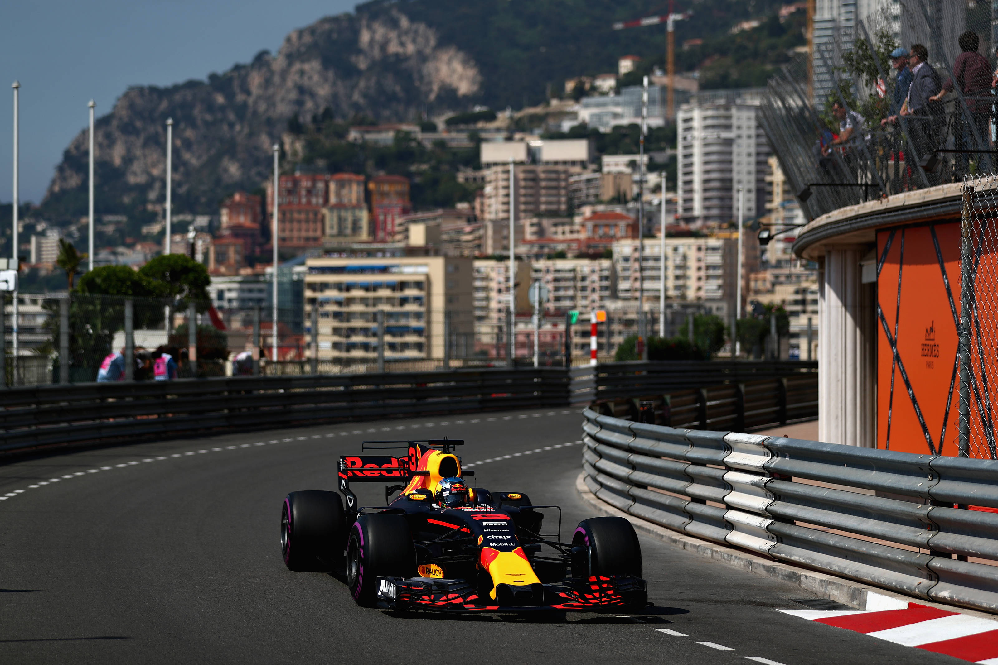 Daniel Ricciardo on his way to third spot on the picturesque street circuit of Monaco. Picture: Getty Images
