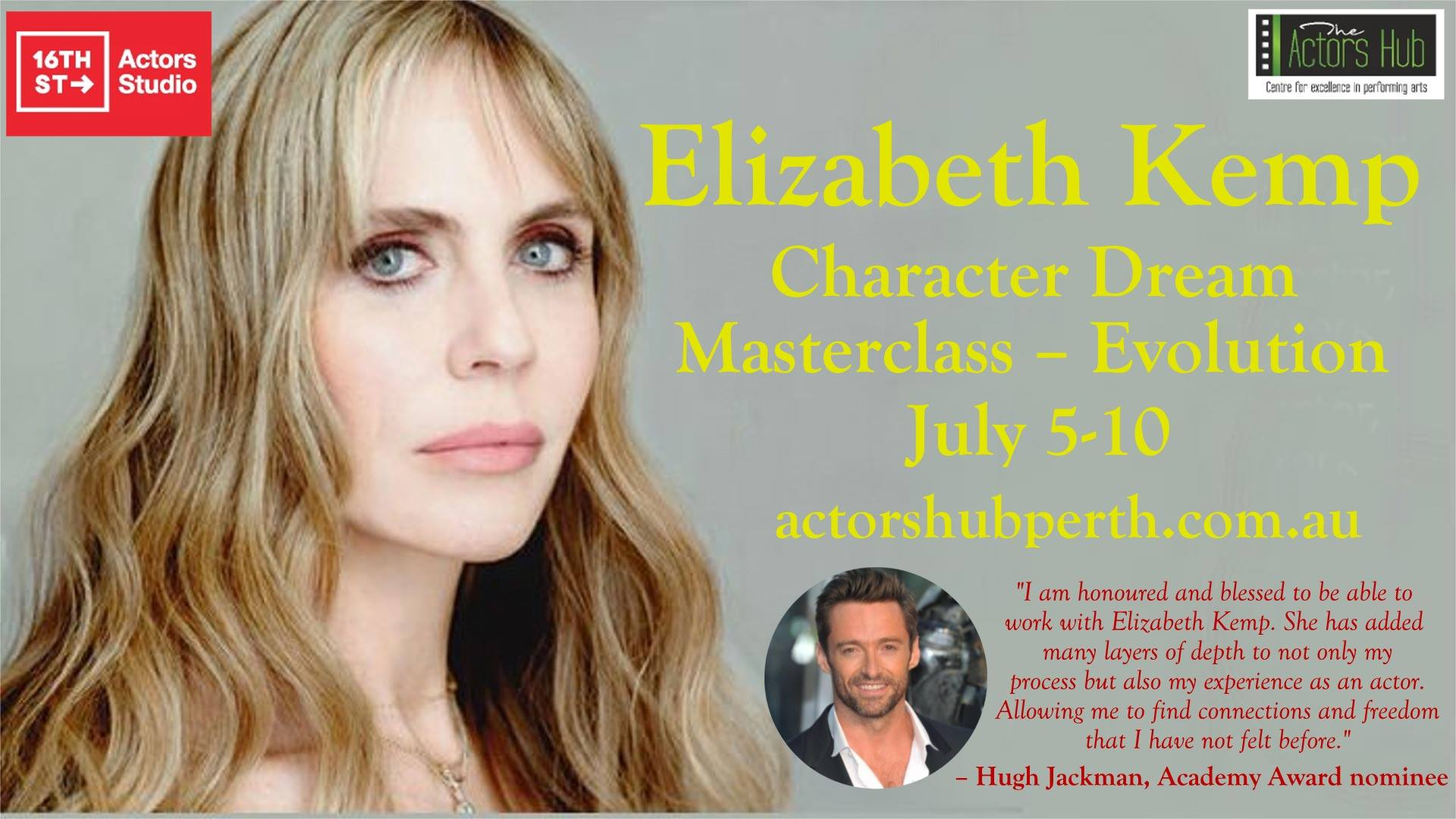 Hugh Jackman's acting coach in Perth to deliver masterclass