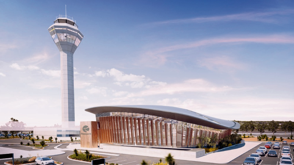 Artist's impression of Perth Airport train station. Picture: Supplied