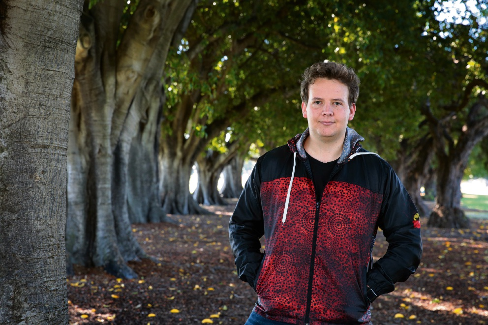 Dylan Collard says reconciliation is everyone's business. Picture: Martin Kennealey     d469559