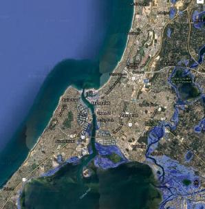 The potential flood threat to Mandurah.