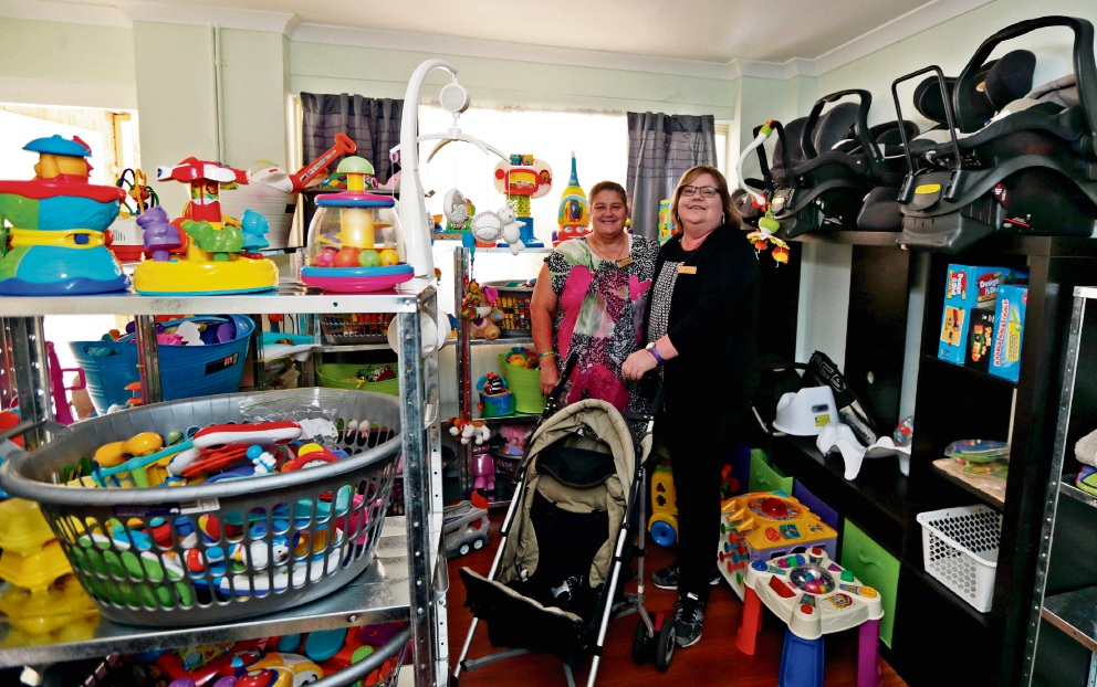 Foster carers Lorraine Lekias and Lea Davies. Picture: Martin Kennealey           d469518