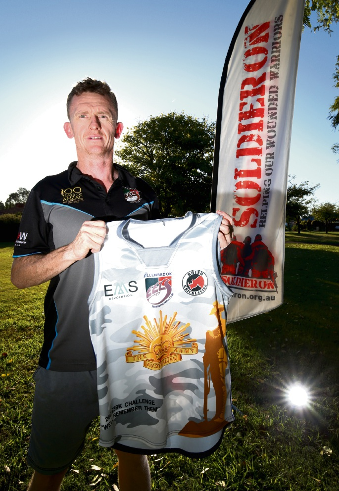 Ronnie Hobbs is taking part in a charity awareness run to raise money for PTSD sufferers. Picture: Matt Jelonek  www.communitypix.com.au   d469469