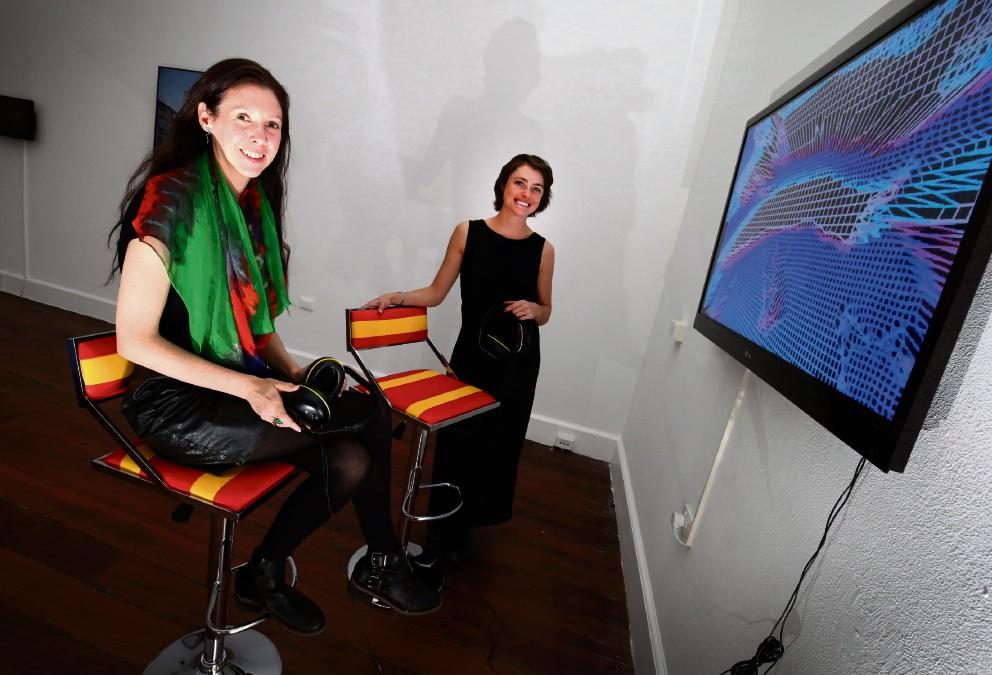 Curator Amy Marjoram with artist Ellen Broadhurst.  Picture: Matt Jelonek www.communitypix.com.au   d469170