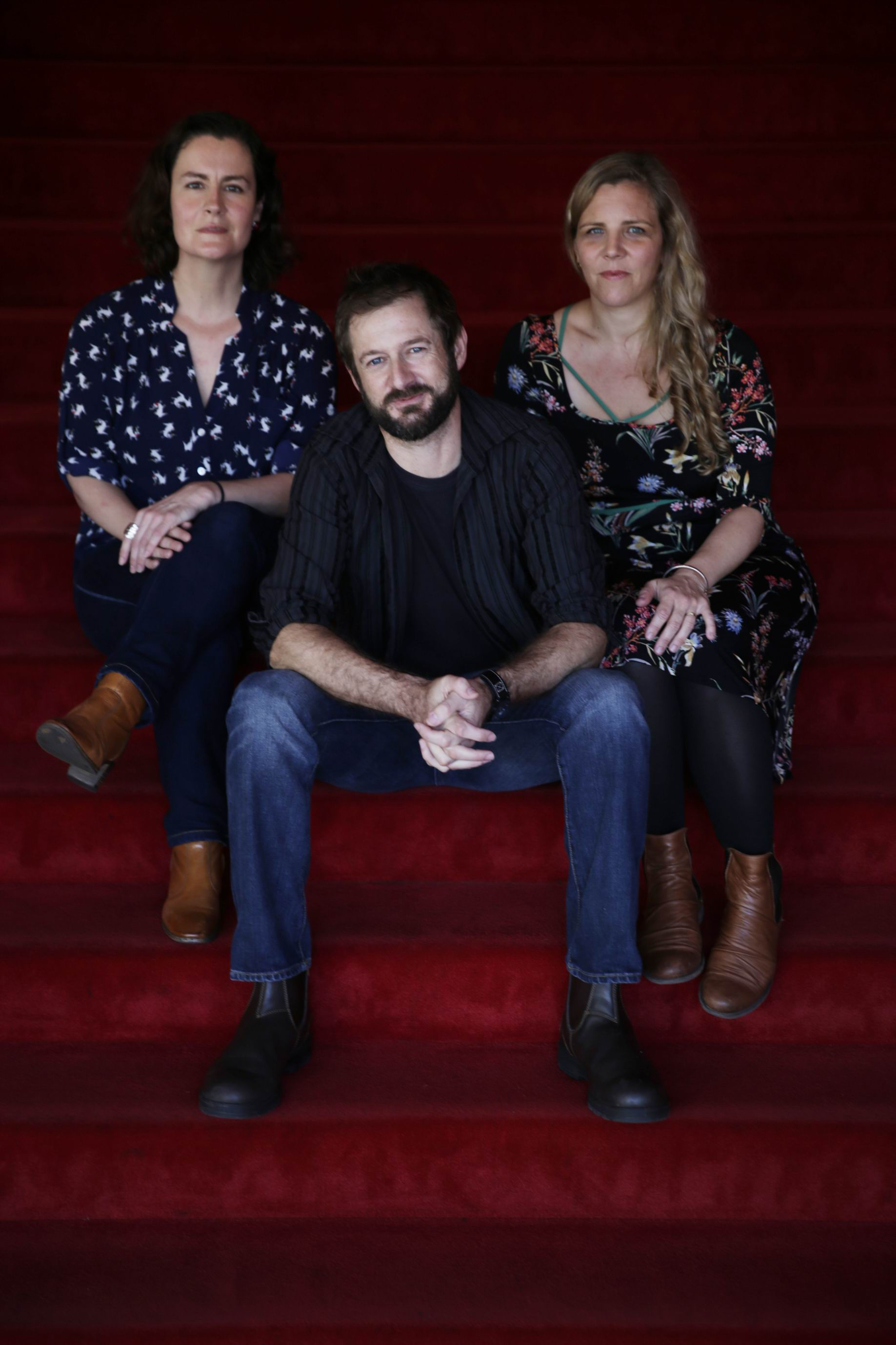Kate Neylon (producer), WA director Pete Gleeson and Melissa Hayward (producer). Documentary Hotel Coolgardie is out soon.