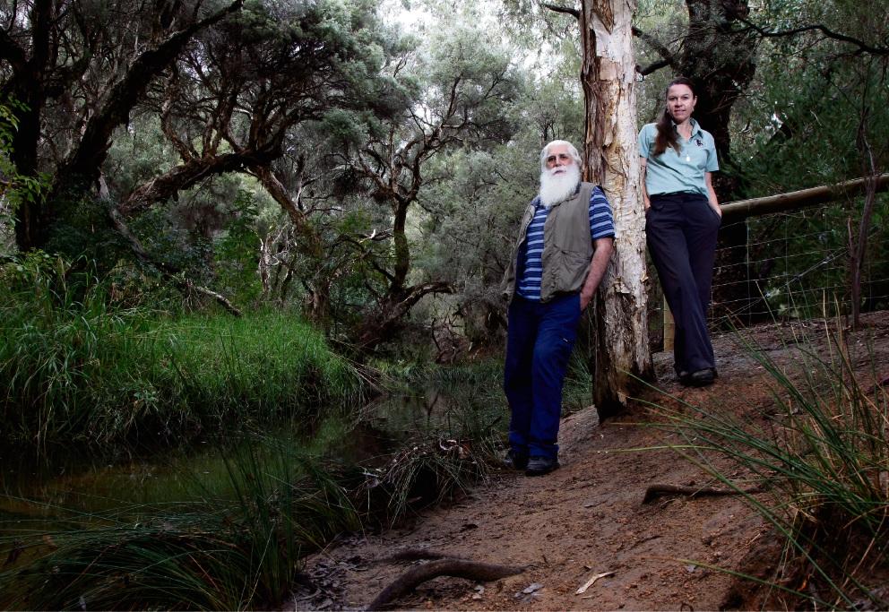 Ken Downsborough and  Narelle Mewburn in Fancote Park Picture: Marie Nirme www.communitypix.com.au   d469548