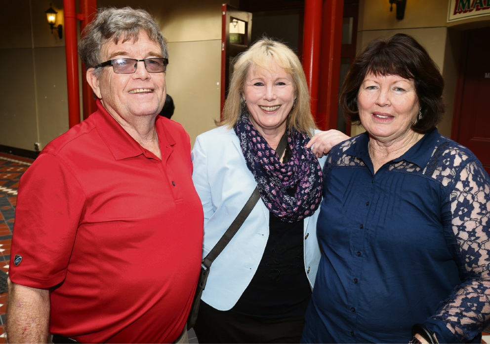 William Christensen, Maureen Christensen and Kathleen Chalmers Picture: Matt Jelonek d467648