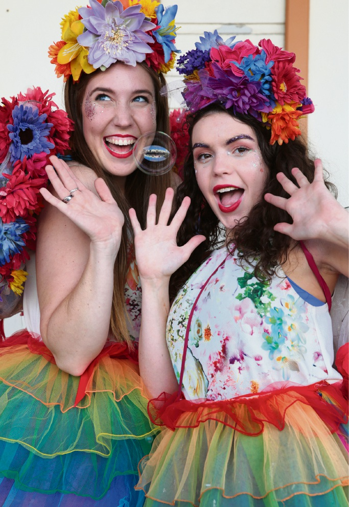 The Freedom Fairies Fairy Clare and Fairy Maddie. Picture: Martin Kennealey  d469727
