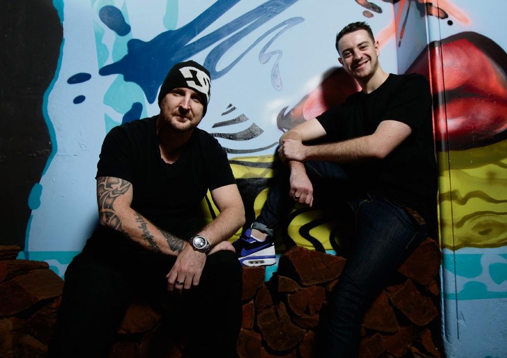 Beats for the Streetz organiser Scotty Schmidt (left) and artist Stian Macshane Picture: Marie Nirme d469863