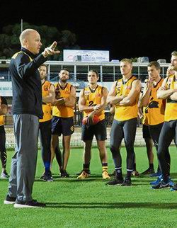 WAFL state coach Michael Broadbridge says form was a key factor in selection for May's clash with the SANFL Picture: WAFC