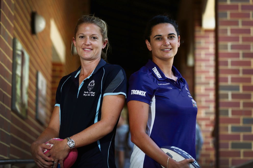 Perth College students get inspiration speech from Dockers AFLW coach Michelle Cowan