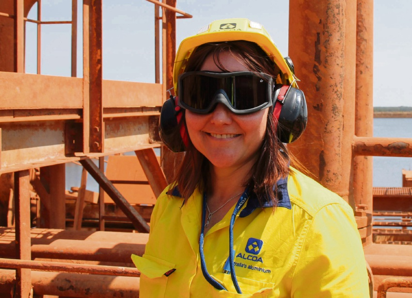 Alcoa resident production and maintenance co-ordinator Kylie Haines.