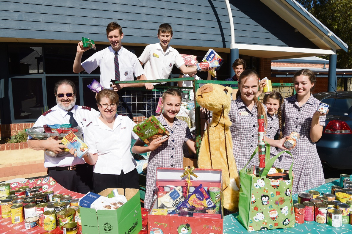Foundation Christian College families give bumper donation to charity Christmas appeal