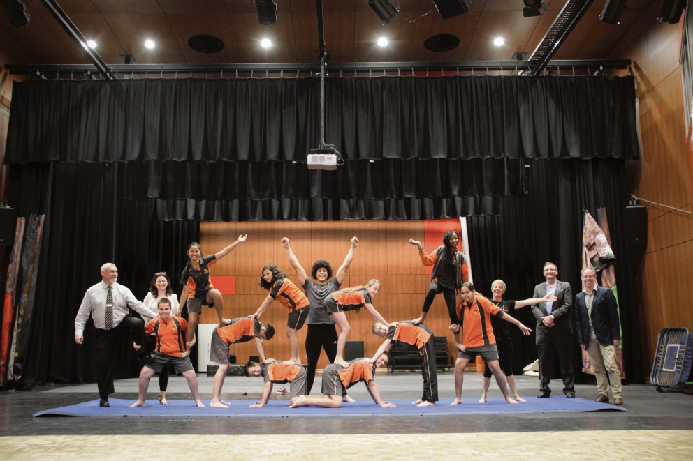 Baldivis Secondary School college students perform circus acts