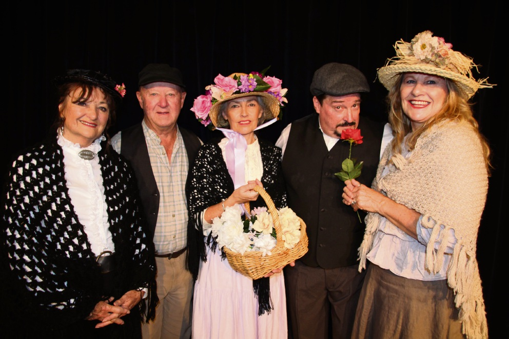 Donna Hay, Ralph Taylor, Chrissy Treg, Les Smithwick and Adria Green in My Fair Lady.