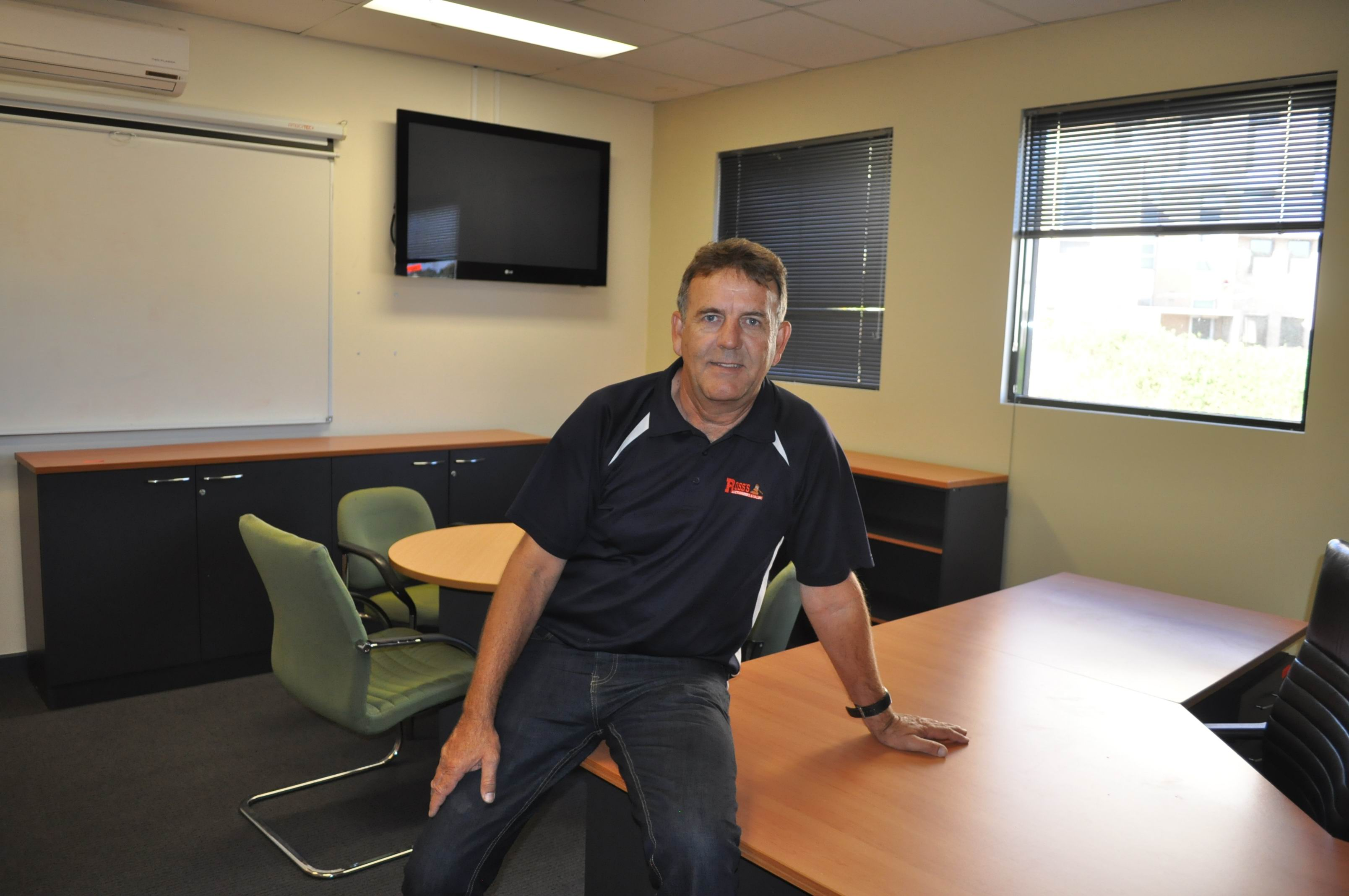 Ross' Auctioneers and Valuers' David Crofts in Ross Lyon's former office.