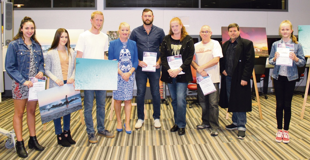 DiscoverWanneroo photography competition winners with Wanneroo Mayor Tracey Roberts.