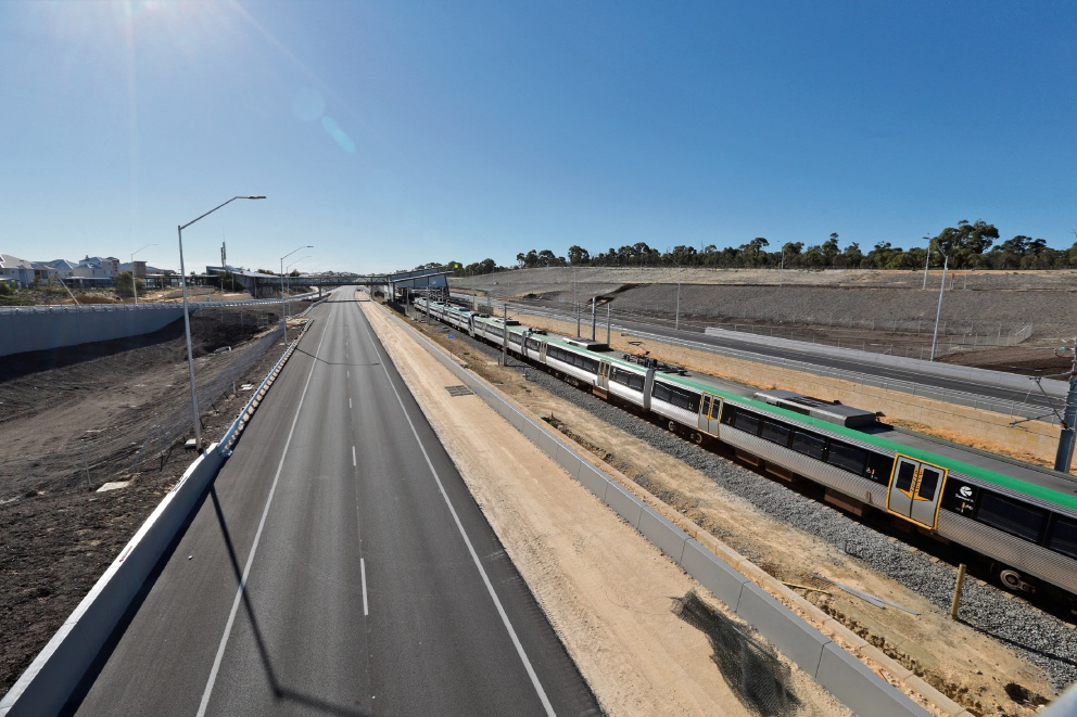 The Mitchell Freeway extension. Picture: Martin Kennealey.