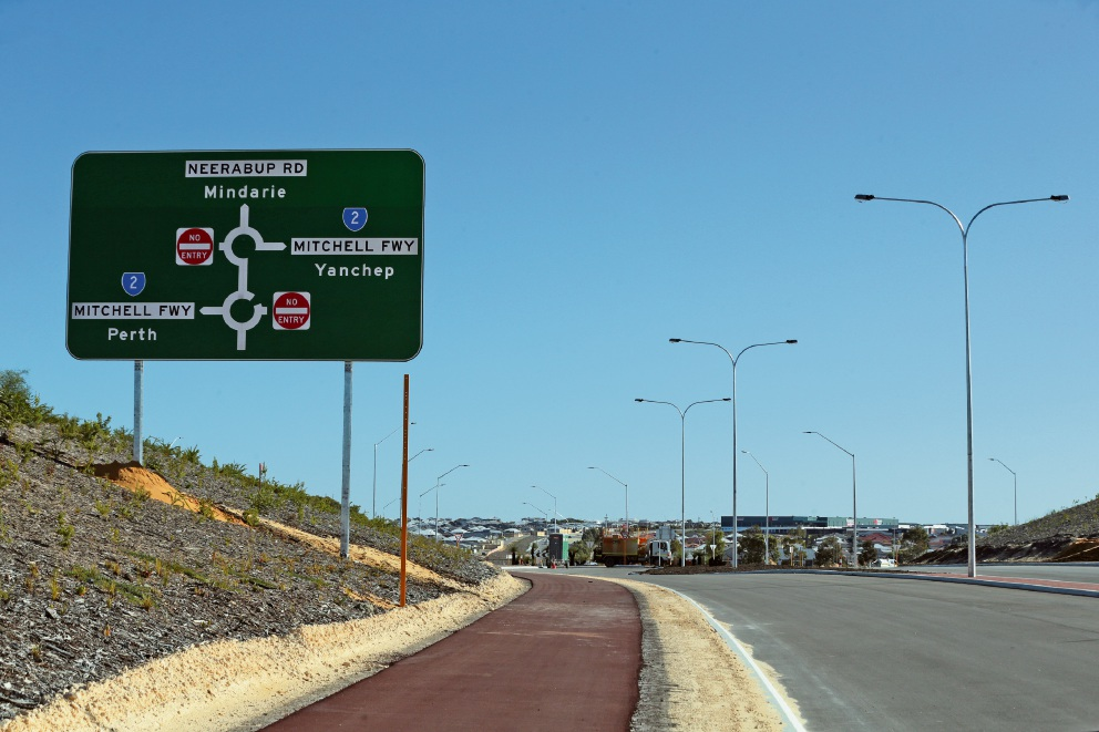 The Mitchell Freeway extension is nearing completion. Picture: Martin Kennealey d469622