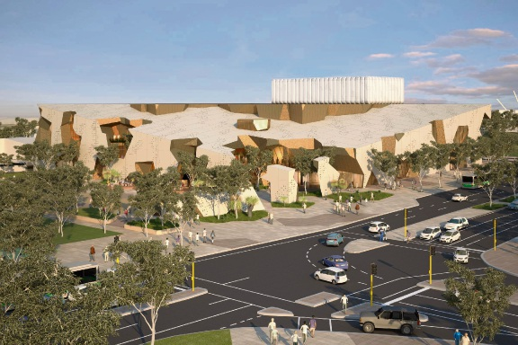 An artist's impression of what the proposed Joondalup performing arts centre could look like.