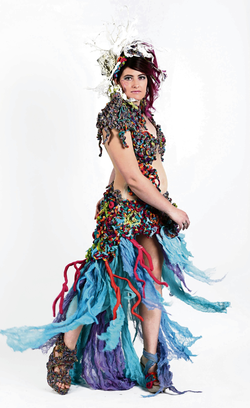 Rockingham artists find inspiration in the sea and flowers for Wearable Art Mandurah pieces