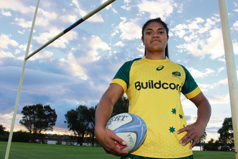 Palmyra Rugby Union Club's Vesinia Schaaf-Taufa is preparing to win her third cap for the Wallaroos.